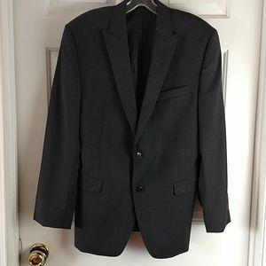100%wool blazer jacket suit Sz.40R gr. charcoal